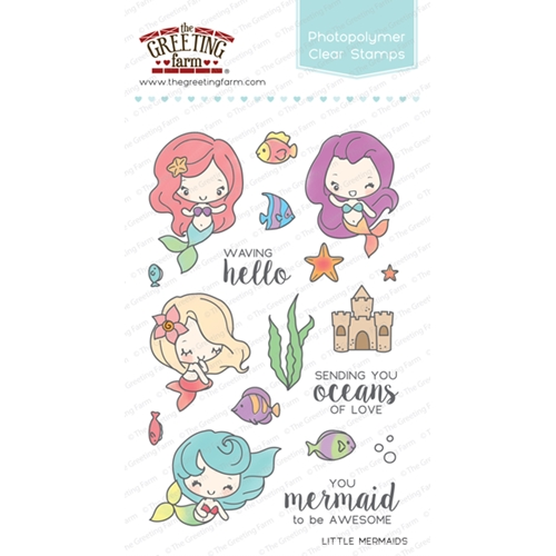 The Greeting Farm LITTLE MERMAIDS Clear Stamps TGF252 Preview Image