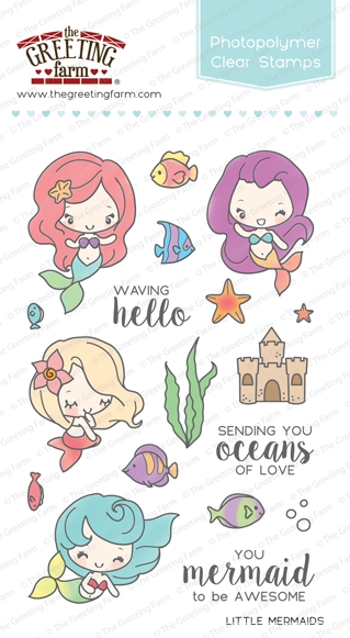 The Greeting Farm LITTLE MERMAIDS Clear Stamps TGF252 zoom image