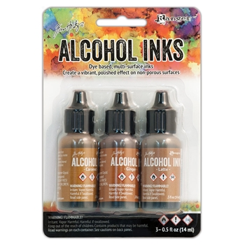Tim Holtz Alcohol Ink Set CABIN CUPBOARD Ranger TIM20691