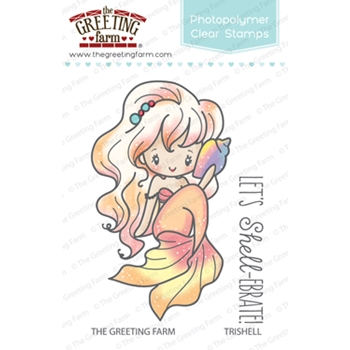 The Greeting Farm TRISHELL MERMAID Clear Stamps TGF258