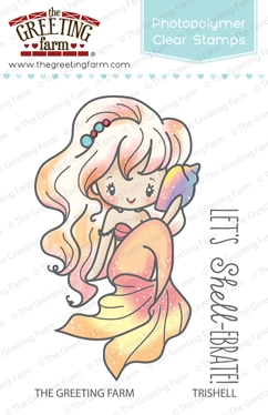 The Greeting Farm TRISHELL MERMAID Clear Stamps TGF258 zoom image