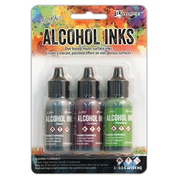 Tim Holtz Alcohol Ink Set COTTAGE PATH Ranger TIM20714