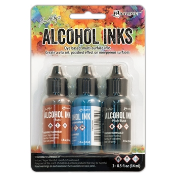 Tim Holtz Alcohol Ink Set MINER'S LANTERN Ranger TIM20721