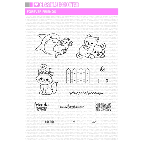 Clearly Besotted FOREVER FRIENDS Clear Stamp Set  Preview Image