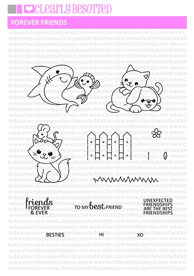 Clearly Besotted FOREVER FRIENDS Clear Stamp Set  zoom image