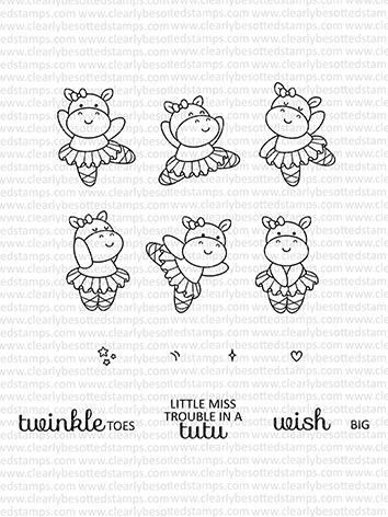 Clearly Besotted TROUBLE IN A TUTU Clear Stamp Set  Preview Image