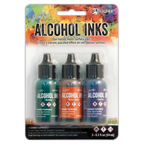 Tim Holtz Alcohol Ink Set RUSTIC LODGE Ranger TIM19770 Preview Image