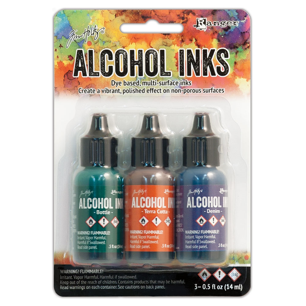 Tim Holtz Alcohol Ink Set RUSTIC LODGE Ranger TIM19770 zoom image