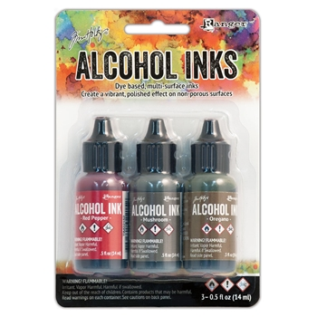 Tim Holtz Alcohol Ink Set TUSCAN GARDEN Ranger TIM20707