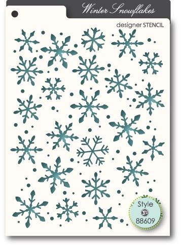 Memory Box WINTER SNOWFLAKES Designer Stencil 88609 Preview Image