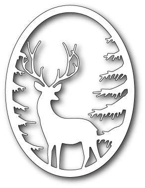 Memory Box GRAND STAG OVAL FRAME Craft Die 99493 zoom image