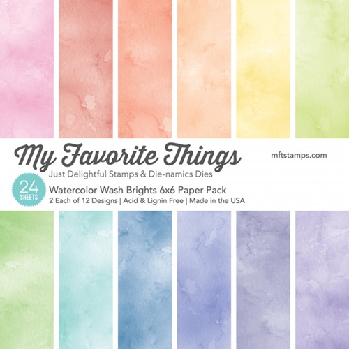 My Favorite Things BRIGHTS WATERCOLOR WASH 6x6 Paper Pack 01403 Preview Image