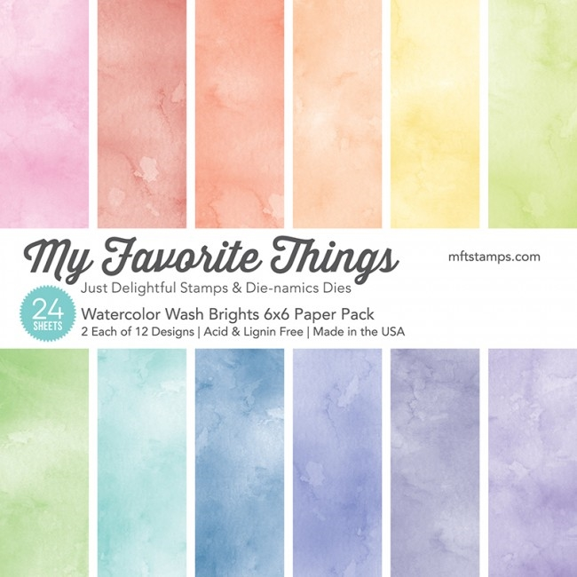 My Favorite Things BRIGHTS WATERCOLOR WASH 6x6 Paper Pack 01403 zoom image