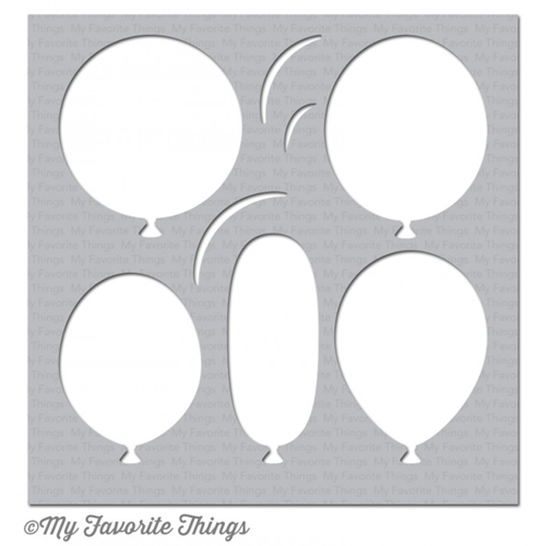 My Favorite Things BIG BALLOONS Mixables Stencil MFT ST97 Preview Image