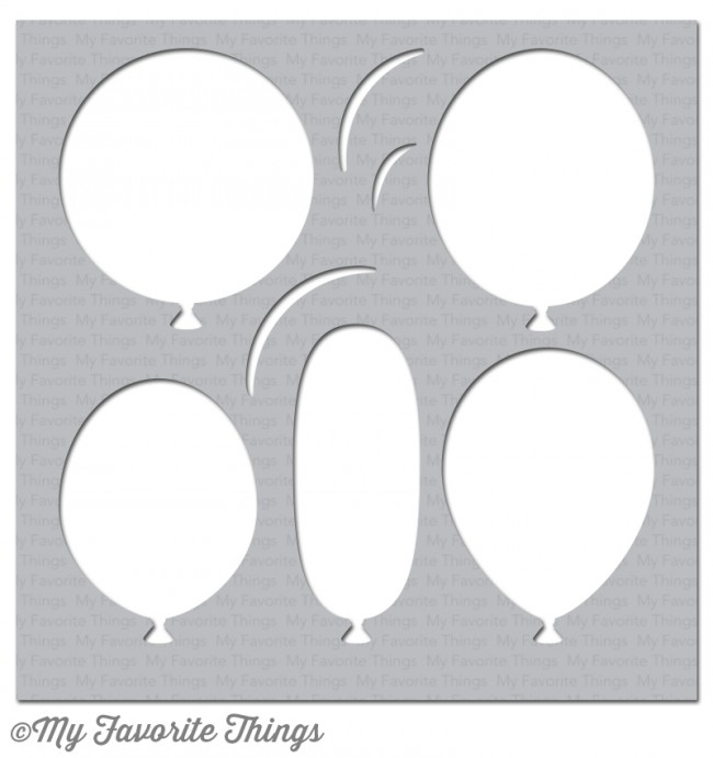 My Favorite Things BIG BALLOONS Mixables Stencil MFT ST97 zoom image