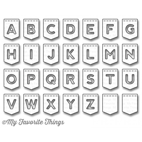 My Favorite Things STITCHED BANNER ALPHABET Die-Namics MFT932 Preview Image
