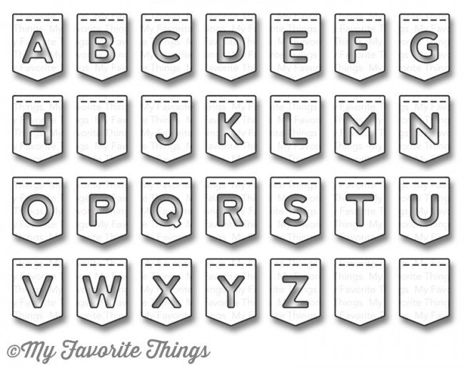 My Favorite Things STITCHED BANNER ALPHABET Die-Namics MFT932 zoom image
