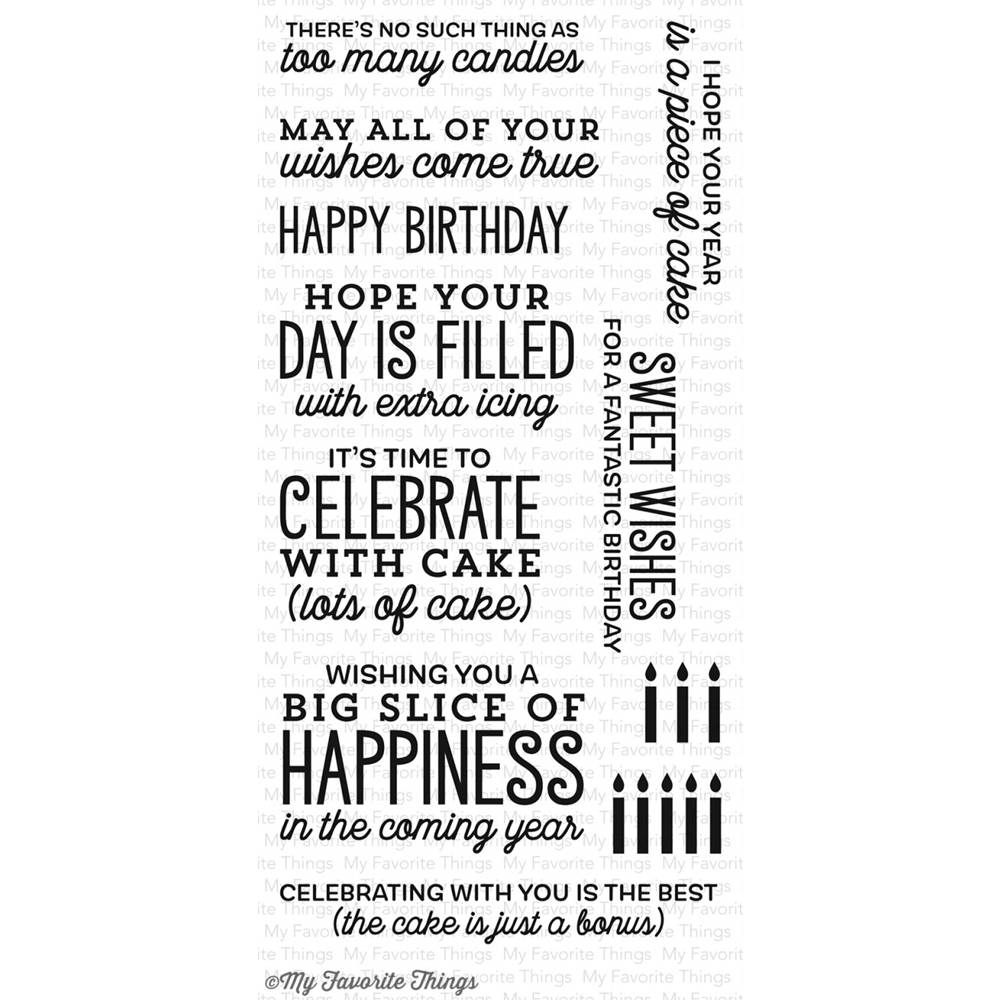 My Favorite Things BIG BIRTHDAY SENTIMENTS Clear Stamps CS133 zoom image