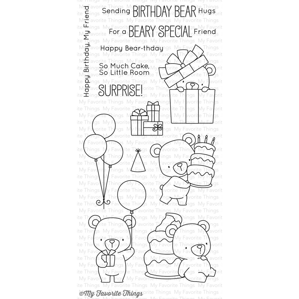 My Favorite Things BEARY SPECIAL BIRTHDAY Clear Stamps BB36 zoom image