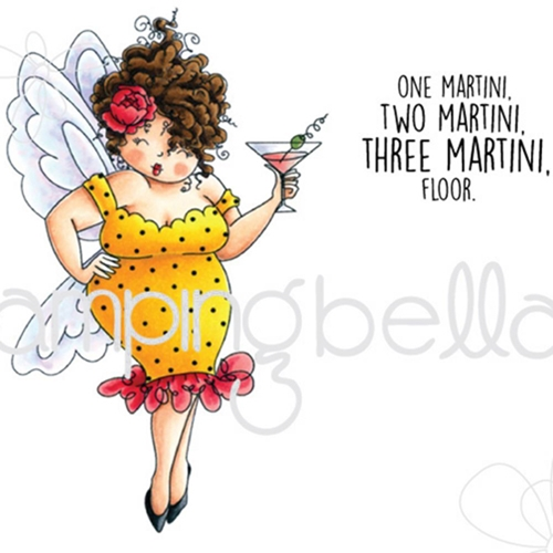 Stamping Bella Cling Stamp EDNA NEEDS A MARTINI Rubber UM EB397 Preview Image