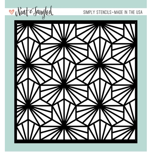 Neat and Tangled GEOMETRIC BLOOMS Stencil NAT185 Preview Image