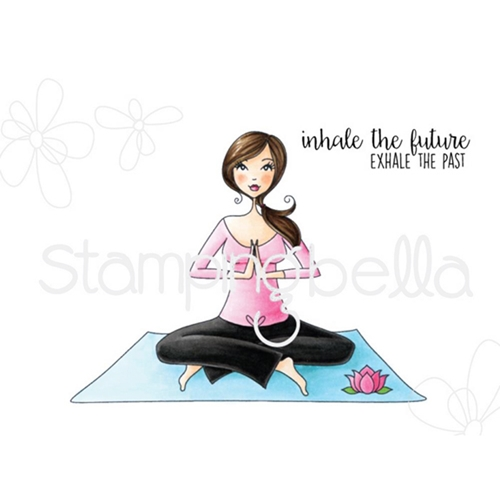Stamping Bella Cling Stamp YOGA BELLA Rubber UM EB415 Preview Image