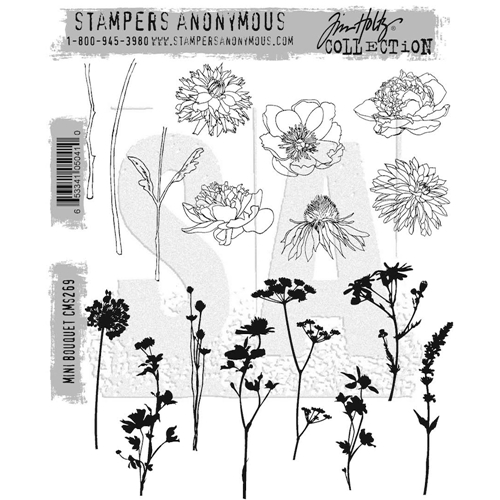 Tim Holtz Cling Rubber Stamps MINI BOUQUET CMS269 Preview Image