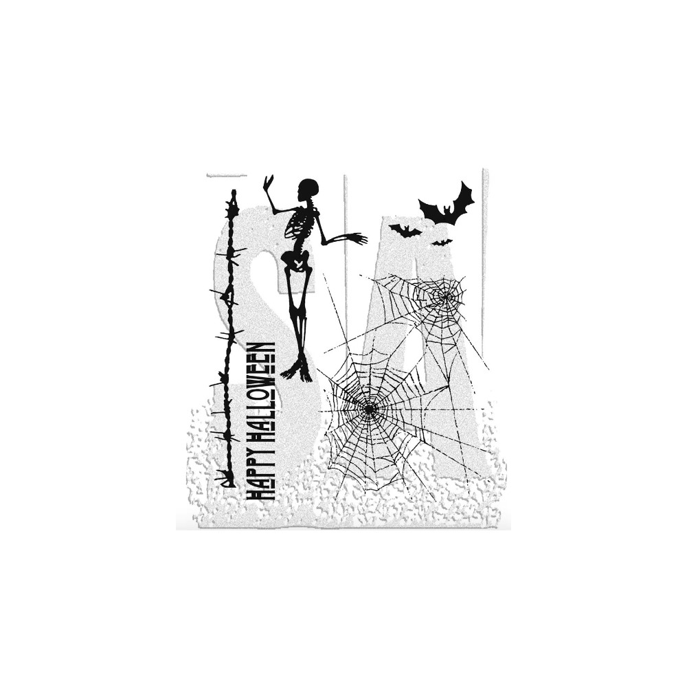 Tim Holtz Cling Rubber Stamps TRICK OR TREAT Halloween CMS050 zoom image
