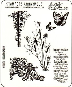 Tim Holtz Cling Rubber Stamps NATURE'S DISCOVERY CMS049