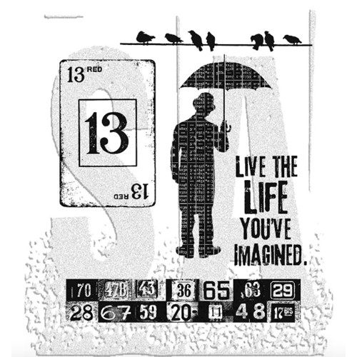 Tim Holtz Cling Rubber Stamps CREATIVE MUSE CMS046 Preview Image