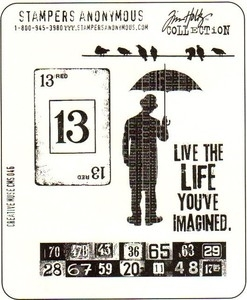 Tim Holtz Cling Rubber Stamps CREATIVE MUSE CMS046 zoom image