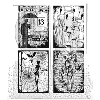 Tim Holtz Cling Rubber Stamps ECLECTIC COLLAGES CMS045
