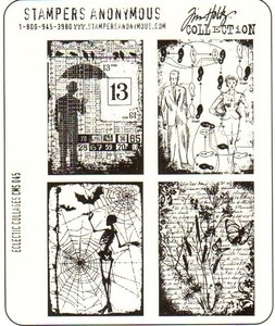 Tim Holtz Cling Rubber Stamps ECLECTIC COLLAGES CMS045 zoom image