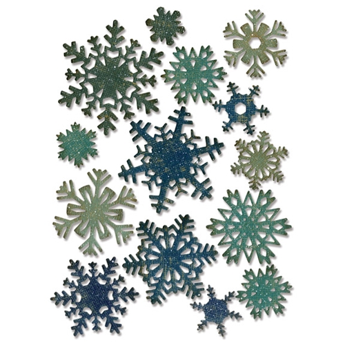 Tim Holtz Sizzix PAPER SNOWFLAKES MINI Thinlits Die 661599 Preview Image