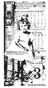 Tim Holtz Rubber Stamp GIRLS RULE Stampers Anonymous u3-1091*