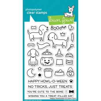Lawn Fawn HAPPY HOWLOWEEN Clear Stamps LF1206