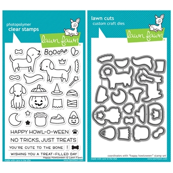 Lawn Fawn SET SULF16SETHH HAPPY HOWLOWEEN Clear Stamps and Dies*