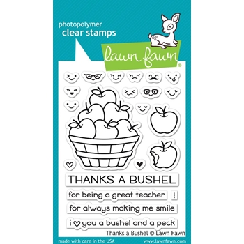 Lawn Fawn THANKS A BUSHEL Clear Stamps LF1208