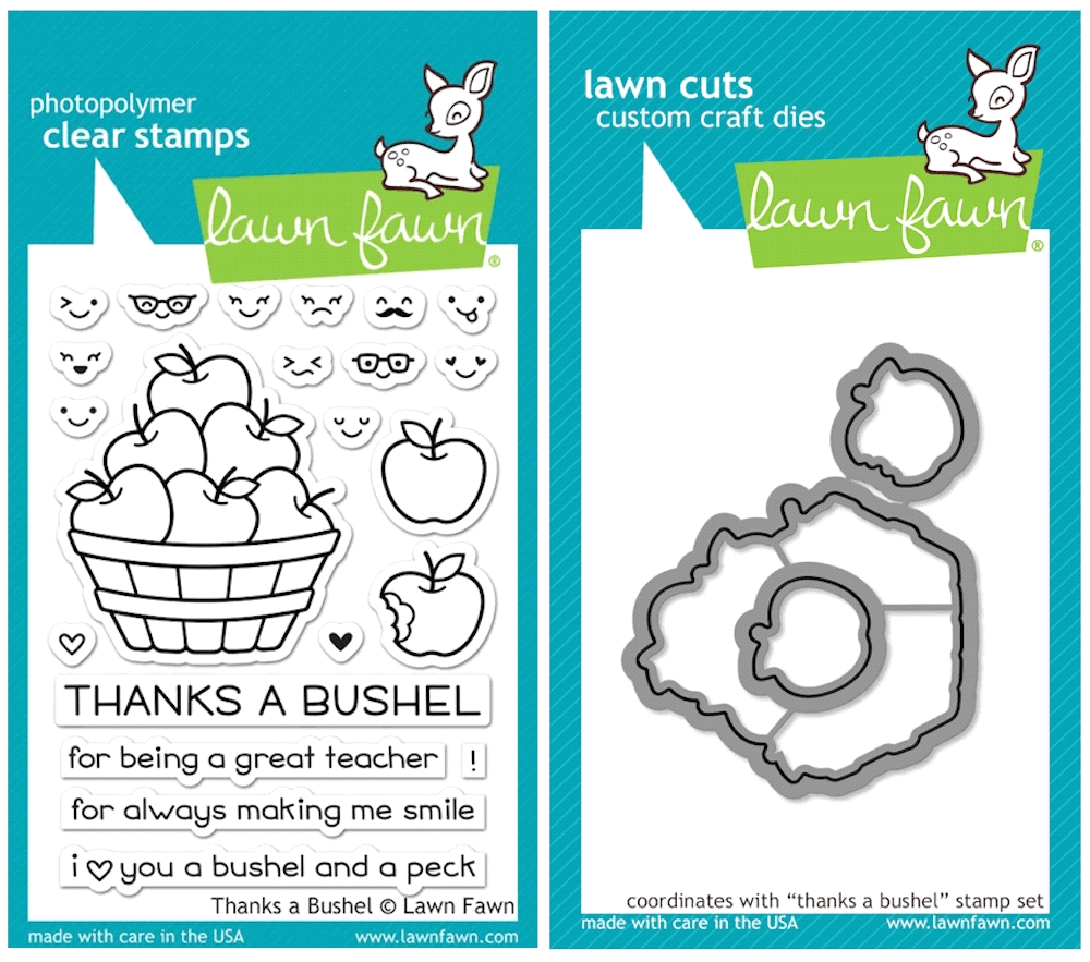 Lawn Fawn SET SULF16SETTAB THANKS A BUSHEL Clear Stamps and Dies zoom image