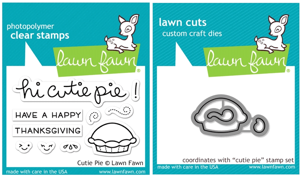 Lawn Fawn SET SULF16SETCP CUTIE PIE Clear Stamps and Dies zoom image