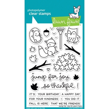Lawn Fawn JUMP FOR JOY Clear Stamps LF1212