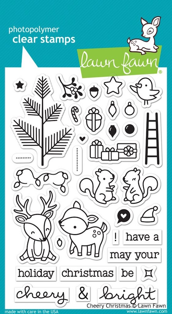 Lawn Fawn CHEERY CHRISTMAS Clear Stamps LF1216 zoom image