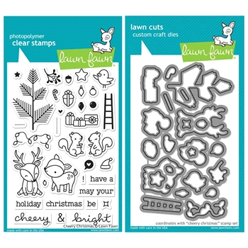 Lawn Fawn SET SULF16SETCC CHEERY CHRISTMAS Clear Stamps and Dies