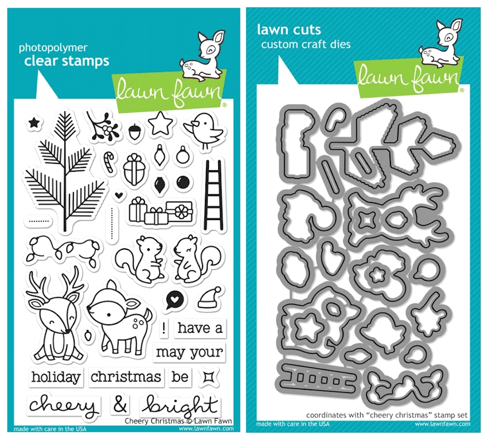 Lawn Fawn SET SULF16SETCC CHEERY CHRISTMAS Clear Stamps and Dies zoom image