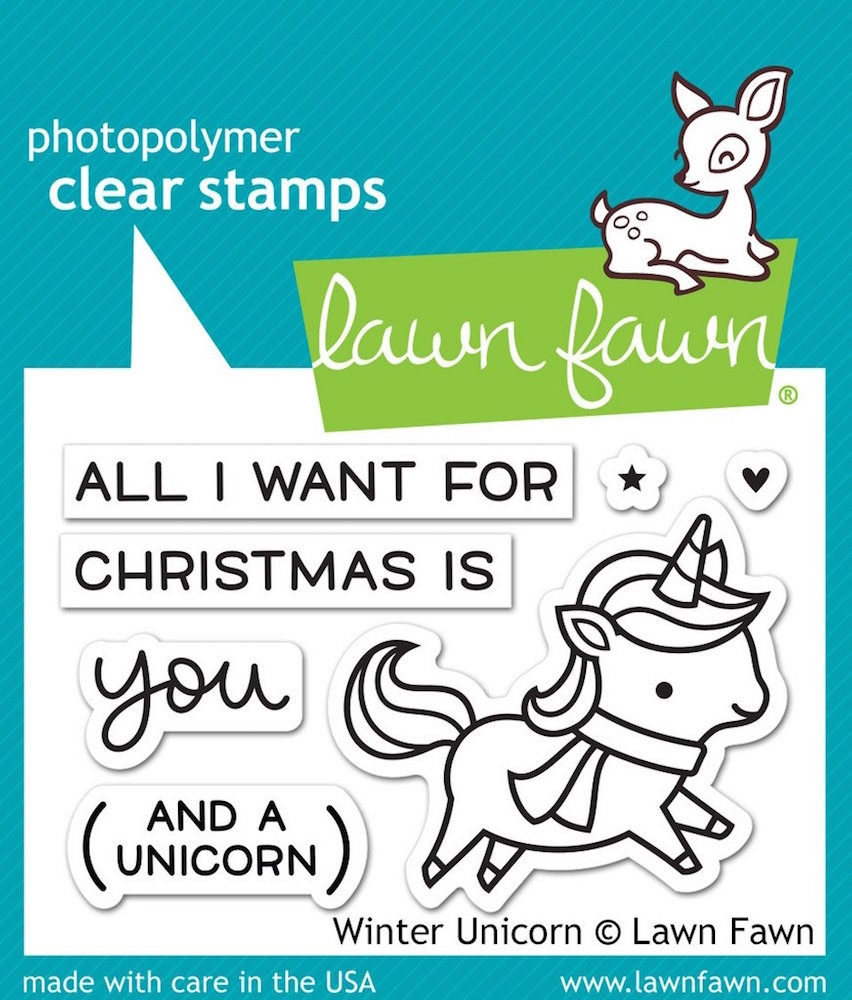 Lawn Fawn WINTER UNICORN Clear Stamps LF1218 zoom image