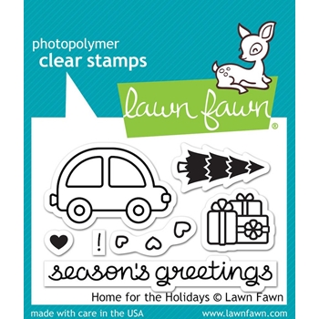 Lawn Fawn HOME FOR THE HOLIDAYS Clear Stamps LF1220