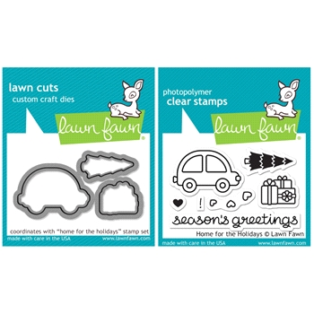 Lawn Fawn SET SULF16SETHFH HOME FOR THE HOLIDAYS Clear Stamps and Dies