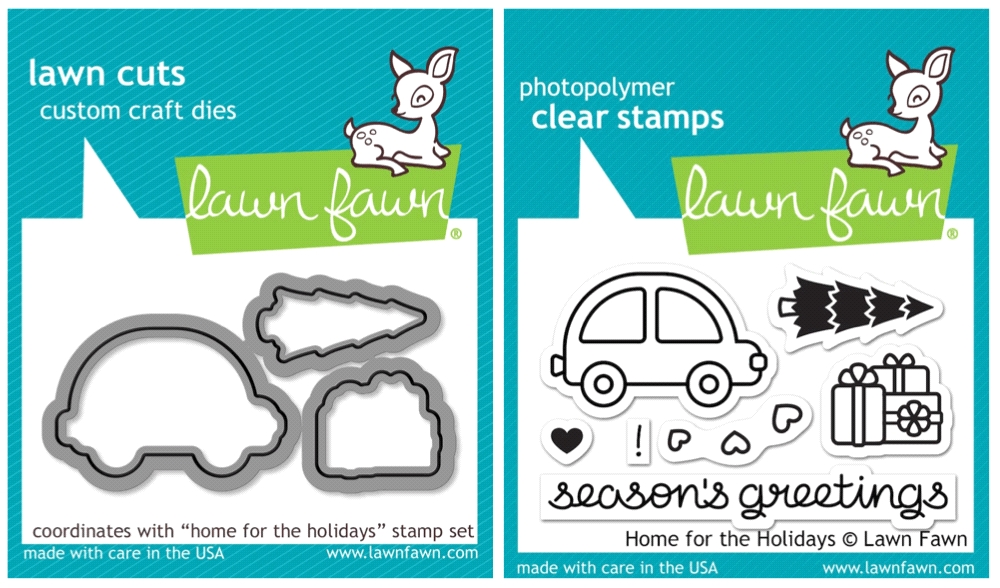 Lawn Fawn SET SULF16SETHFH HOME FOR THE HOLIDAYS Clear Stamps and Dies zoom image
