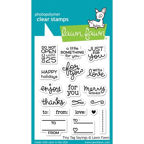 Lawn Fawn TINY TAG SAYINGS Clear Stamps LF1222 Preview Image