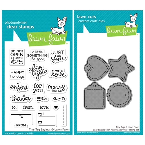 Lawn Fawn SET SULF16SETTTS TINY TAG SAYINGS Clear Stamps and Dies* Preview Image